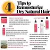 4 conseils faciles à ReMoisturize sec Natural Hair