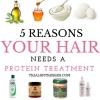 5 raisons vos cheveux ont besoin un traitement de protéines