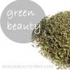 Beauté avec du thé vert