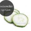 Oeil MASQUE FROID -cucumber pour cercle foncé et les yeux bouffis