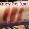 Cruauté Dupes gratuites pour Maybelline Lipstick