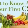 Guide de survie CSA: Que savez sur vos Première CSA