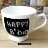 Bricolage idée cadeau - tableau noir tasses