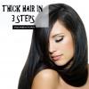 Les cheveux épais en 3 étapes simples et naturelles