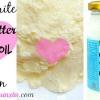 DIY hydratante au beurre de karité et de noix de coco Mélanger l'huile pour la peau