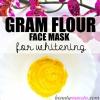 Gram Flour Masque pour le blanchiment de la peau