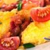 Polenta grillé Recette avec des haricots de printemps