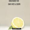 Accueil recours pour les genoux et les coudes, sec et sombre avec du citron