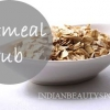 Homemade gommage de la farine d'avoine bricolage pour les peaux sensibles