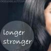 Cheveux plus longs, forts et plus sains