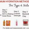 Max Méthode Hydratation alléguée meilleure routine d'humidité pour # 4cHair