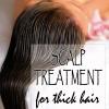 Traitement du cuir chevelu naturel pour des cheveux plus épais
