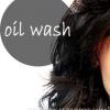 Lavage de l'huile -, doux cheveux brillants