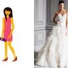 Robes de mariée pour Ruler formes du corps