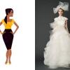 Robes de mariée pour Hourglass formes du corps