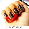 Polka dot art d'ongle à l'aide cure-dent ou des épingles à cheveux