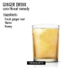 Sore remède de la gorge avec une boisson au gingembre recette