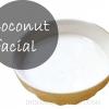 Traitement de Spa - le lait de coco du visage pour un éclat radieux