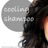 Shampooing cheveux de refroidissement d'été