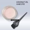 Procédé de teinture des cheveux de l'huile de coco