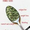 Top recours à l'aide de graines de fenouil et thé de fenouil