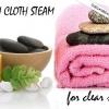 Laver la vapeur en tissu pour le visage