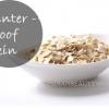 Hiver épreuve peau avec la farine d'avoine