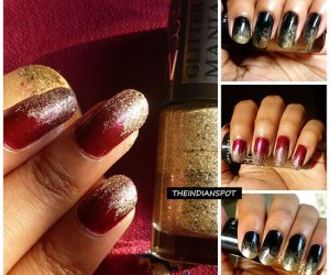 Simple bricolage gradient glitter conceptions de l'art de l'ongle